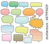 vector set of speech bubbles | Shutterstock .eps vector #687995629