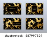 set of black and gold business... | Shutterstock .eps vector #687997924