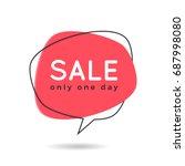 minimal style flat speech... | Shutterstock .eps vector #687998080