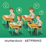 intensive classroom education... | Shutterstock .eps vector #687998443