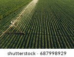 aerial view of irrigation... | Shutterstock . vector #687998929
