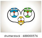 isolated scalable vector... | Shutterstock .eps vector #688000576