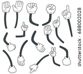 vector set of cartoon arm | Shutterstock .eps vector #688002028