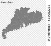 high quality map of guangdong... | Shutterstock .eps vector #688003288