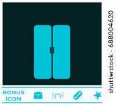 double door icon flat. simple... | Shutterstock . vector #688004620