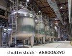 modern milk cellar with... | Shutterstock . vector #688006390