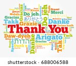 thank you word cloud in... | Shutterstock .eps vector #688006588