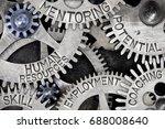macro photo of tooth wheel... | Shutterstock . vector #688008640