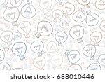 abstract illustrations of light ... | Shutterstock .eps vector #688010446