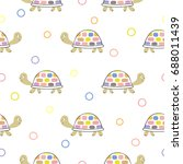 seamless pattern with cute... | Shutterstock .eps vector #688011439