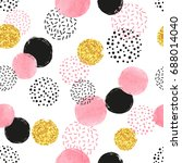 seamless dotted pattern with... | Shutterstock .eps vector #688014040