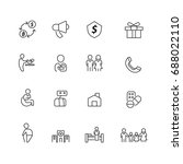 people and family icons set... | Shutterstock .eps vector #688022110