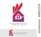 ok home initial letter a logo... | Shutterstock .eps vector #688022524