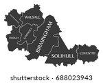 west midlands metropolitan... | Shutterstock .eps vector #688023943