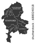 staffordshire county england uk ... | Shutterstock .eps vector #688024018