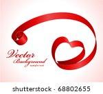 heart from red ribbon valentine'... | Shutterstock .eps vector #68802655