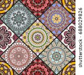 seamless pattern. vintage... | Shutterstock .eps vector #688029826