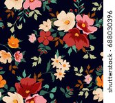 seamless floral pattern in... | Shutterstock .eps vector #688030396