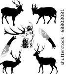 silhouettes of deer of...   Shutterstock .eps vector #68803081