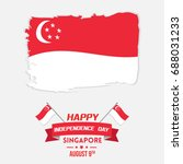 singapore independence day... | Shutterstock .eps vector #688031233