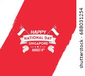 singapore independence day... | Shutterstock .eps vector #688031254