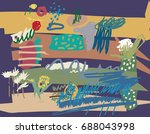 abstract set elements spring... | Shutterstock . vector #688043998