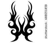 tattoo tribal vector design.... | Shutterstock .eps vector #688051858