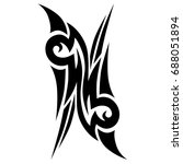 tattoo tribal vector design.... | Shutterstock .eps vector #688051894