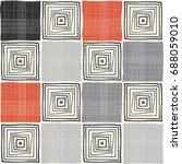 seamless mosaic pattern.... | Shutterstock .eps vector #688059010