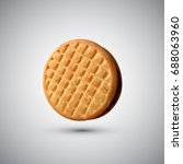 realistic cookie isolated on... | Shutterstock .eps vector #688063960