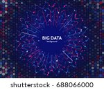 complex data graphic... | Shutterstock .eps vector #688066000