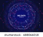 big data connection structure.... | Shutterstock .eps vector #688066018