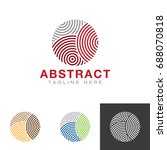 abstract circle line style logo | Shutterstock .eps vector #688070818