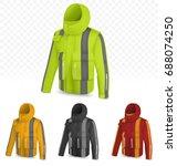 reflective jacket isolated on... | Shutterstock .eps vector #688074250