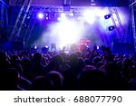 crowd at concert and blurred... | Shutterstock . vector #688077790