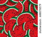 seamless pattern of juicy... | Shutterstock .eps vector #688078579
