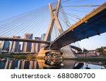 sao paulo landmark skyline  ... | Shutterstock . vector #688080700