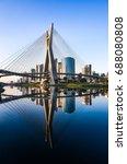 sao paulo landmark skyline  ... | Shutterstock . vector #688080808