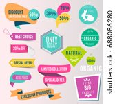collection of colorful sale... | Shutterstock .eps vector #688086280