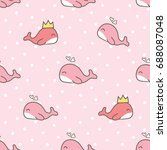 seamless pattern of cute... | Shutterstock .eps vector #688087048
