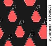 flat line pear pattern vector | Shutterstock .eps vector #688088278