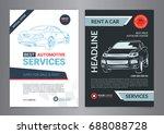 set of automotive services... | Shutterstock .eps vector #688088728