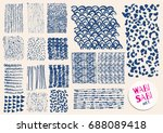 vector hand drawn indigo... | Shutterstock .eps vector #688089418