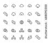 mini icon set   responsive and... | Shutterstock .eps vector #688090300