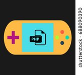php simple vector icon....