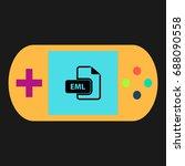 eml simple vector icon....