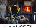 high precision hot forging... | Shutterstock . vector #688095736