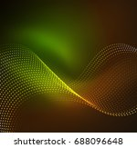 wave particles background   3d ... | Shutterstock . vector #688096648