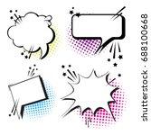 chat bubble icon set pop art... | Shutterstock .eps vector #688100668