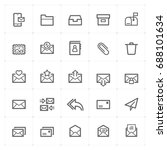mini icon set   mail and letter ...